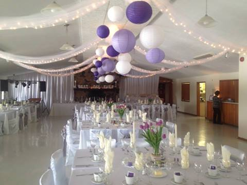 Reception Hall Decorated for Wedding